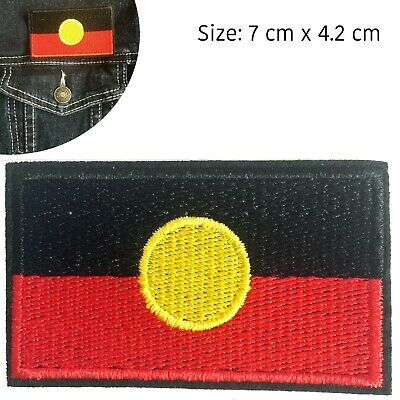 Aboriginal flag Iron on patch Indigenous First Australian Mabo iron-on patches