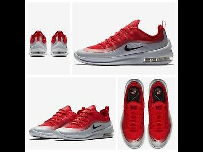 Mens Nike Air Max Axis Trainers Size UK 9 AA2146 600 University Red Black  NEW df08234f40d