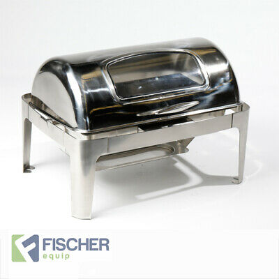 """""""New"""" Luxury 9L S/ Steel Bain Marie Roll-Top Chafer Food Warmer +Electric Heater"""