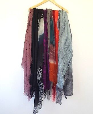 Bulk Mixed Lot Scarf Womens Ladies x9 Scarves Assorted Accessories Material