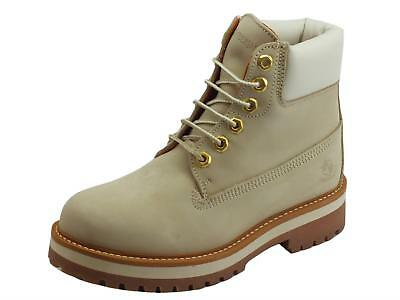 Scarponcini Lumberjack Kristy per donna in scamosciato Cream con colletto  White 11a57dbd2cc