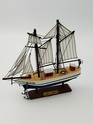 Small Wooden Detailed Model Ship Marine Nautical Decor Belle Poule