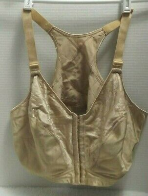 a76973aac4 Playtex 18 Hour Bra 7 Hook Front Closure - Model 4643 Nude RN15763 Sz. 48D