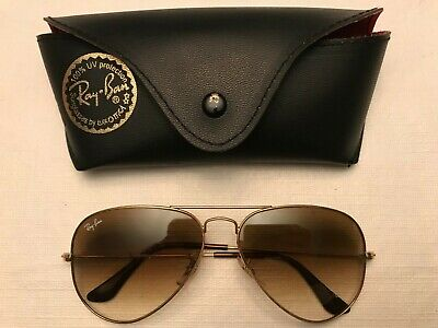 Ray Ban Aviator Sunglasses Rb Large Metal 58014 In Original