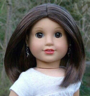 WIG from Chrissa American Girl Doll Dark Brown Hair Parts Repair Custom TLC
