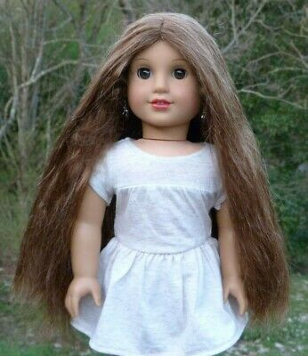 WIG from Marie Grace American Girl Doll Long Brown Hair Parts Repair Custom TLC