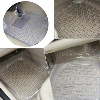 Universal 5pcs Durable Car Auto Floor Mat PVC Transparent Anti-skid All Weather