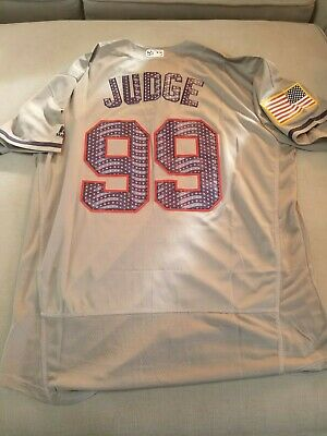 cheap for discount 756b7 fdfc8 NEW YORK YANKEES #99 Aaron Judge Home Stars N Stripes White ...