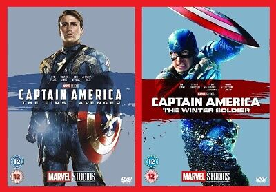 Captain America DVD Double Pack The First Avenger & Winter Soldier Brand NEW