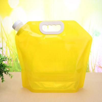 5L Collapsible Foldable Water Bag Storage Lifting Sports Hiking Survival Bottle
