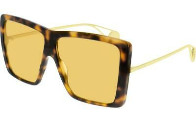 a08834dc2d7 GUCCI 0306 HAVANA Gold Yellow Aviator Foldable Sunglasses GG0306S ...