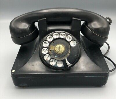 North Electric Galion Black Rotary Phone c. 1946