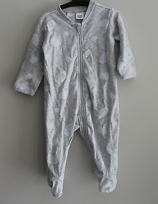 Baby Jumpsuit Bodysuit Wondersuit Clouds Grey Size 00 3-6 months Outfit Clothes
