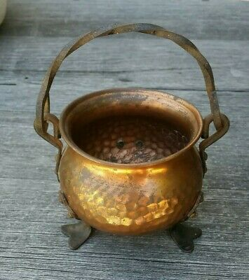 Arts And Crafts Copper Pot vintage antique German made in Germany