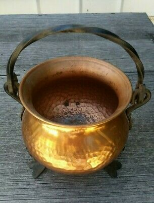 Arts And Crafts Copper pot cauldron vintage German Made in Germany