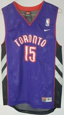 the best attitude 35c86 62dcc NIKE VINCE CARTER Jersey Toronto Raptors Size Youth L Large Stitched Rare  NBA!