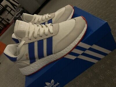 4ee1a6b6cafd adidas Iniki Runner Off White Blue Core Red BB2093 Men Running Shoes DS 7.5 US