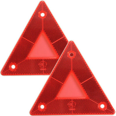 Pairs Red Triangular Side Red Reflectors For Rear Triangle Truck Trailer