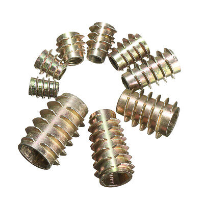 10 Hex Drive Screw In Threaded Insert Nuts Bushing For Wood Type E M4 M5 M6