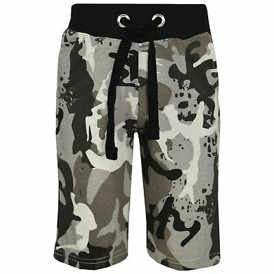 Kids Boys Charcoal Camouflage Chino Shorts Knee Length Half Pant Age 5-13 Years