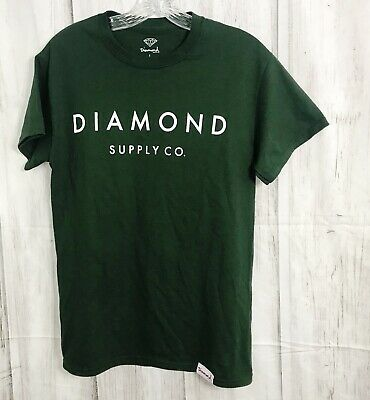 6340a53ab Diamond Supply Co. Graphic Tee Shirt size Small Olive Green Simple Trendy  Tee