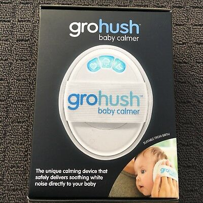 "GRO HUSH BABY CALMER ""White"" Portable Handheld Infant Soothing Device"