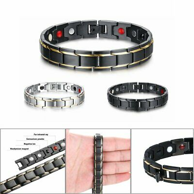 Therapeutic Energy Healing Bracelet Stainless Steel Magnetic Therapy Bracelet DM