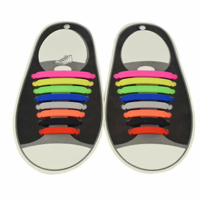 Colorful No Tie Shoelaces Elastic Silicon Shoe Laces For Walking, Running Sport