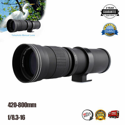 420-800mm F/8.3-f16 Super Telephoto Manual Lens +Adapter For Canon EOS EF Camera