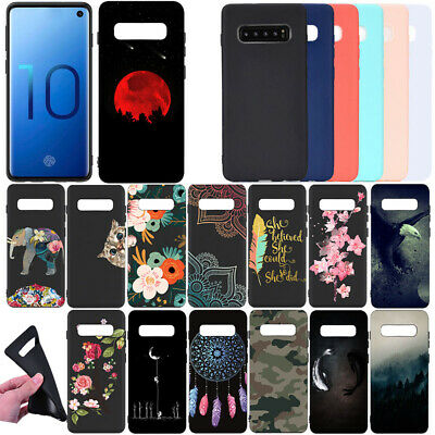 For Samsung Galaxy S10 Plus e Painted Shockproof Slim Silicone Case Back Cover