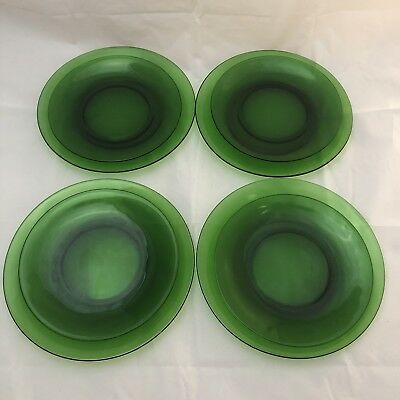 Set Of (8) VINTAGE VERECO Green Plates. 4 Salad and 4 Dinner Plates.