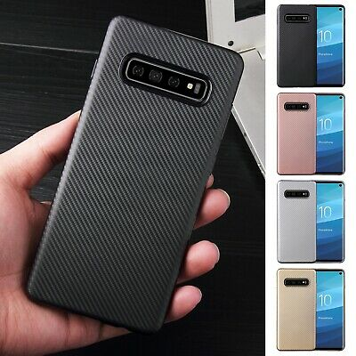 For Samsung Galaxy Note 10 Plus S10E Carbon Fiber Slim Soft Silicone Case Cover