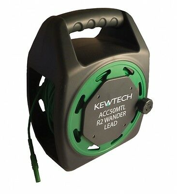 Kewtech ACC50MTL 50 Metre R2 Earth Testing Extension Wander Test Lead Reel