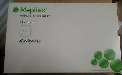Mepilex 11 x 20 CM Soft Silicone Foam Dressings With Safetac 294260 5 pieces
