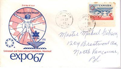1967 #469 EXPO'67 FDC with Cole cachet