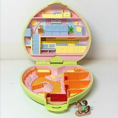 Polly Pocket Pony Club locket playset toy doll horse figure Vintage 1989 1980s