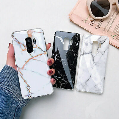 For Samsung S10 e S8 S9 Plus S7 Marble Shockproof Silicone Soft Phone Case Cover