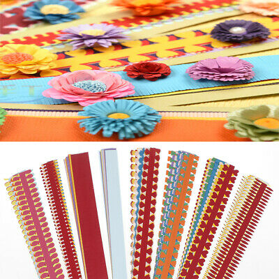 1 bag flower quilling paper strips colorful origami diy paper hand craft diy ^S