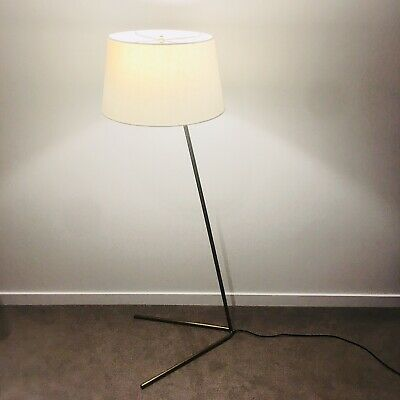 $299 West Elm Mid Century Modern Brass Angled Floor Lamp