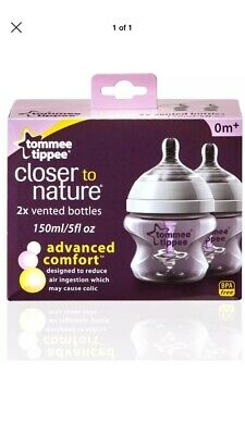 Tommee Tippee Closer to Nature Advanced  Comfort - 2 x 150ml Bottles