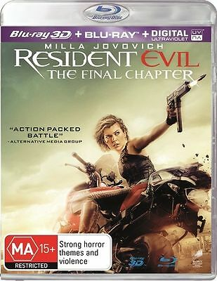Resident Evil - The Final Chapter 3D Blu-Ray : NEW