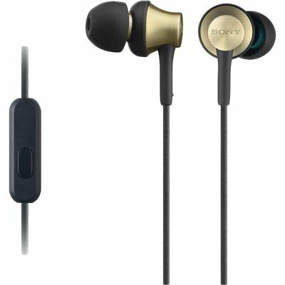 Sony MDR-EX650AP Brass In Ear Headphone Headset Earphones w/ Mic 3.5mm Jack Gold