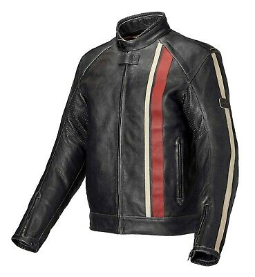 GENUINE Triumph Motorcycles Raven 2 Classic Retro Leather Jacket NEW 2018