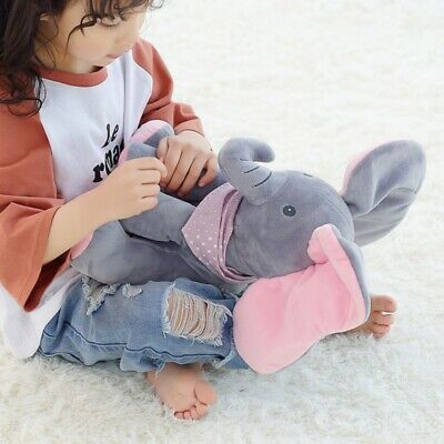 Peek-a-Boo Animated Talking and Singing Plush Elephant Stuffed Doll Toy For Kid