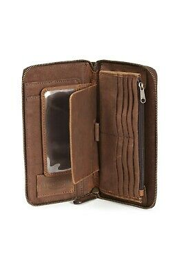 GENUINE Triumph Motorcycles Canvas Travel Wallet Bag Brown NEW 2019