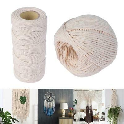 Home Decor Twine String 100% Natural Beige Cotton DIY Rope Sewing Cords