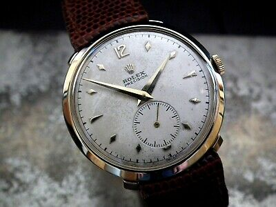 1940's Solid 9ct Gold Oversize (34mm) Rolex Precision Gents Vintage Watch