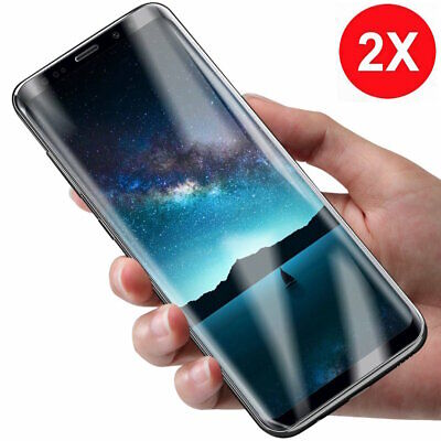 2x Panzer Folie 3D Samsung Galaxy S9 / S9 Plus Display Schutz Folie Cover KLAR