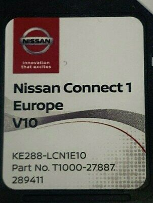 Nissan Connect 1 Lcn1 Navigation Sd Card V9 Micra Qashqai Note Juke Cube