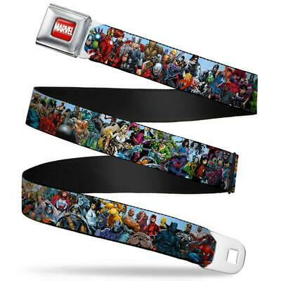 Buckle-Down Seatbelt Belt - Marvel Heroes & Villains